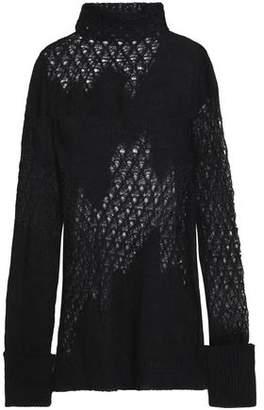 Ann Demeulemeester Open-Knit Mohair-Blend Turtleneck Sweater