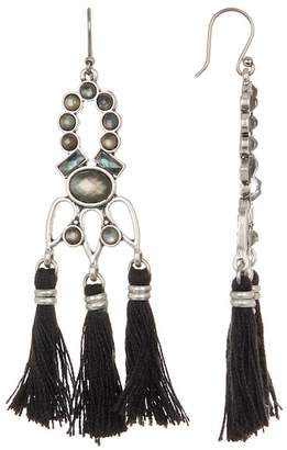 Lucky Brand Tassel Chandelier Earrings