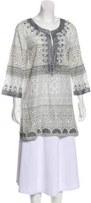 Calypso Long Sleeve Printed Tunic