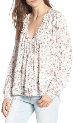 AG Jeans Sia Floral Plunge Top
