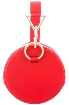 Tara Zadeh Leather Circle Bag Red Leather Circle Bag