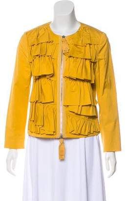 3.1 Phillip Lim Ruffle-Accented Casual Jacket