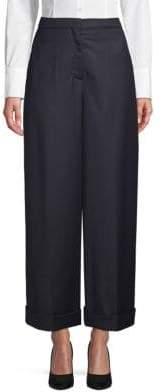 Valentino Foldover-Cuff Pants