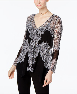 INC International Concepts Lace Handkerchief-Hem Top, Only at Macy's $59.50 thestylecure.com