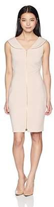 Calvin Klein Women's Petite Sleeveless Zipper Front Sheath Dress