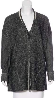 Transit Oversize Zip-Up Cardigan