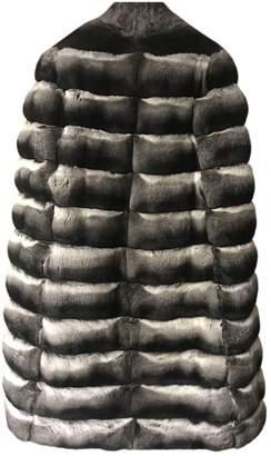 Lilly E Violetta Grey Chinchilla Coats