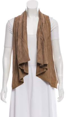Torn By Ronny Kobo Leather Open Front Vest