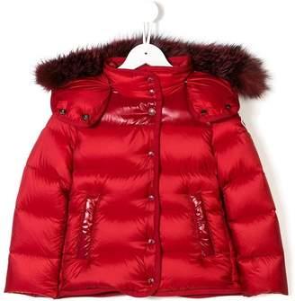 Moncler fur hooded padded jacket