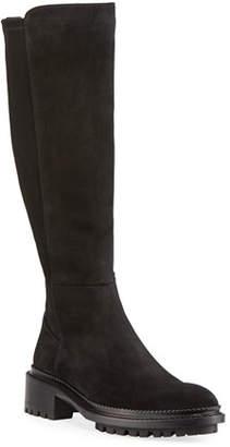 Aquatalia Oliviana Stretch-Suede Boots