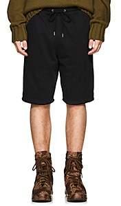 Helmut Lang Men's Cotton Terry Basketball Shorts - Black