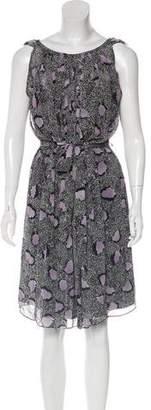 Diane von Furstenberg Ria Abstract Print Dress