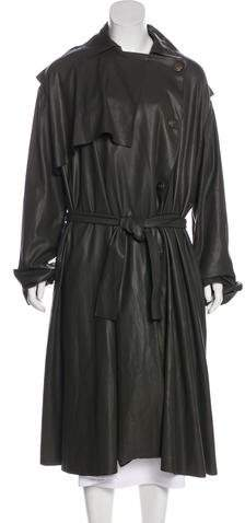 Lanvin Leather Trench Coat