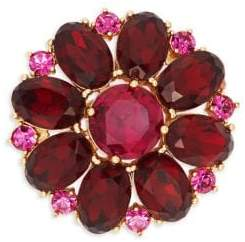 Kate Spade Multi-Stone Flower Brooch