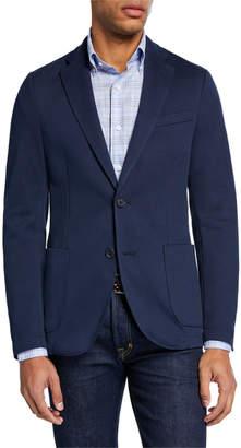 Neiman Marcus Men's Two-Button Knit Blazer