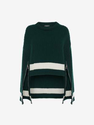 Alexander McQueen Cropped Knit Sweater