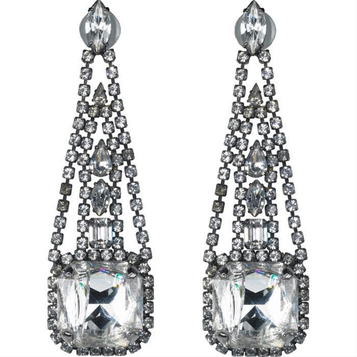 Crystal Drop Earrings by Erickson Beamon