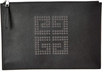 Givenchy 4G Eyelet Embellished Leather Pouch