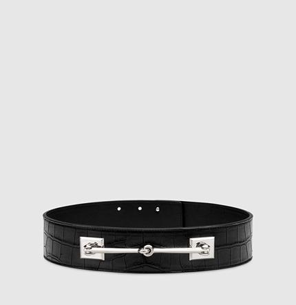 Gucci Crocodile Horsebit Waist Belt