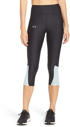 Under Armour 'Fly By' Colorblock Capris $49.99 thestylecure.com