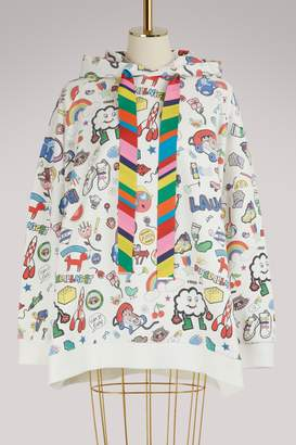 Mira Mikati Cotton logo hoodie
