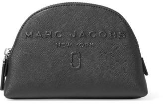 Marc Jacobs Embossed Textured-leather Cosmetics Case - Black