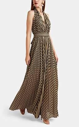 Philosophy di Lorenzo Serafini Women's Striped Lamé Halter Gown