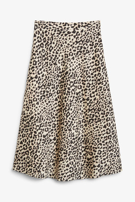 Monki Silky midi skirt