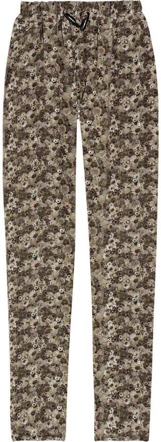 Emma Cook Floral-print silk crepe de Chine pants