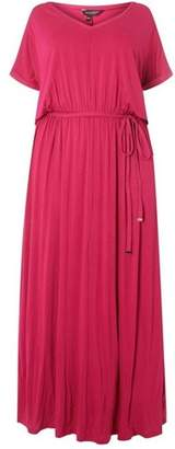 Dorothy Perkins Womens **DP Curve Pink Jersey Maxi Dress