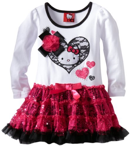 Hello Kitty Girls 2-6X HK Long Sleeve Tutu Dress