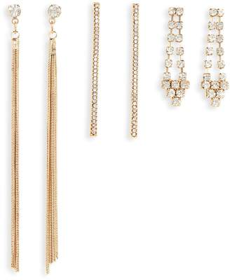 BP Set of 3 Crystal Earrings