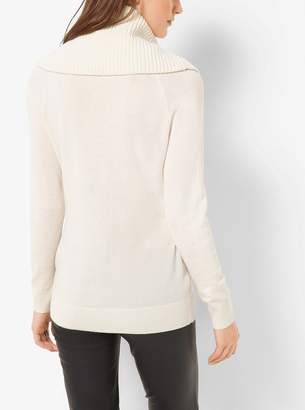 MICHAEL Michael Kors Cowl-Neck Merino Wool-Blend Sweater
