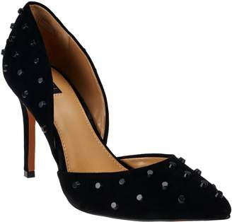 G.I.L.I. Got It Love It G.I.L.I. Leather Studded Pointed Toe Two-piece Pumps - Jilee