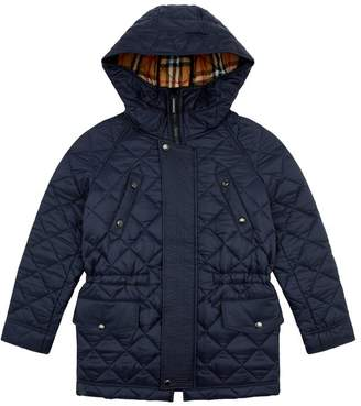 Burberry Diamond Quilted Hooded Jacket
