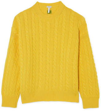 Loewe Cable-knit Wool Sweater - Marigold