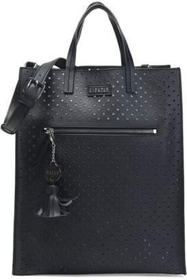 Claudie Pierlot Laser-Cut Leather Shoulder Bag