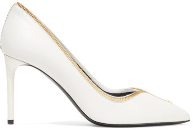 TOM FORD - Embellished Leather Pumps - Off-white