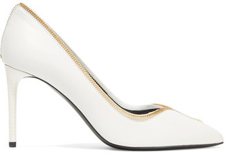TOM FORD - Embellished Leather Pumps - Off-white $840 thestylecure.com