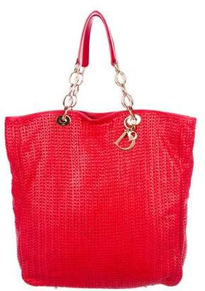 Christian Dior Woven Soft Lady Tote