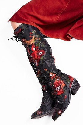 Floral Joe Lace Up Boot by Jeffrey Campbell at Free People $298 thestylecure.com