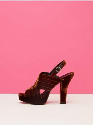 Diane von Furstenberg Tabby Velvet Heels