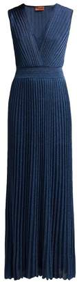 Missoni Ribbed Knit Lame Dress - Womens - Navy
