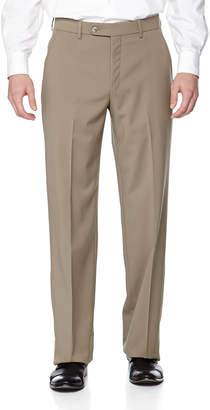 Neiman Marcus Classic-Fit Flat-Front Wool Pants British Tan