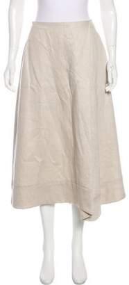 Les Copains Linen Midi Skirt