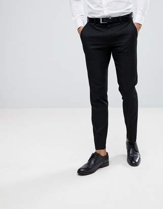 Moss Bros Skinny Suit Pants In Black
