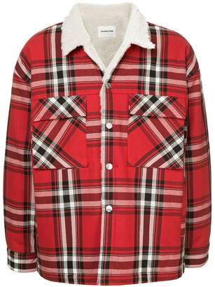 Monkey Time Plaid Shirt Jacket