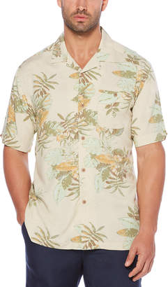 Cubavera Printed Floral Camp Shirt