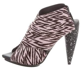 Proenza Schouler Zebra Ponyhair Sandals w/ Tags