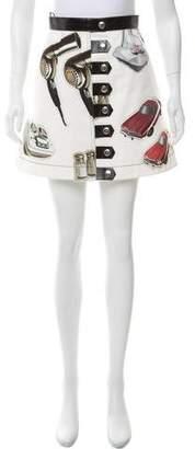 Louis Vuitton Vegan Leather-Trimmed Mini Skirt
